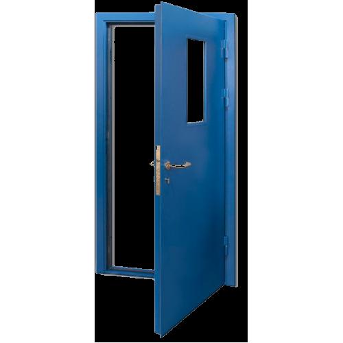 Дверь противопожарная одностворчатая остекленная